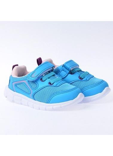 Kiko Kids Kiko S27 Günlük Fileli Cırtlı Kız/Erkek Çocuk Spor Ayakkabı Pembe